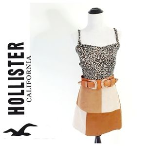 NWT - Patchwork Suede Hollister Skirt